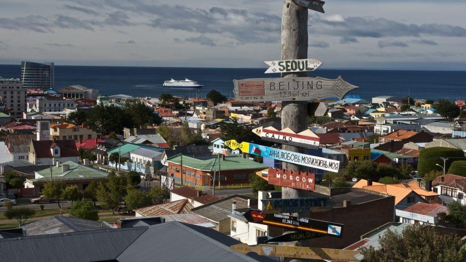 Subir o Cerro de la cruz em Punta Arenas