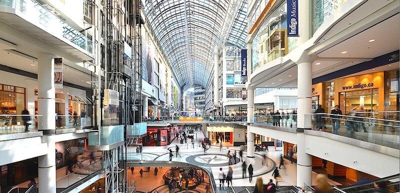 O Que Fazer em Toronto no Canadá: Eaton Shopping Center