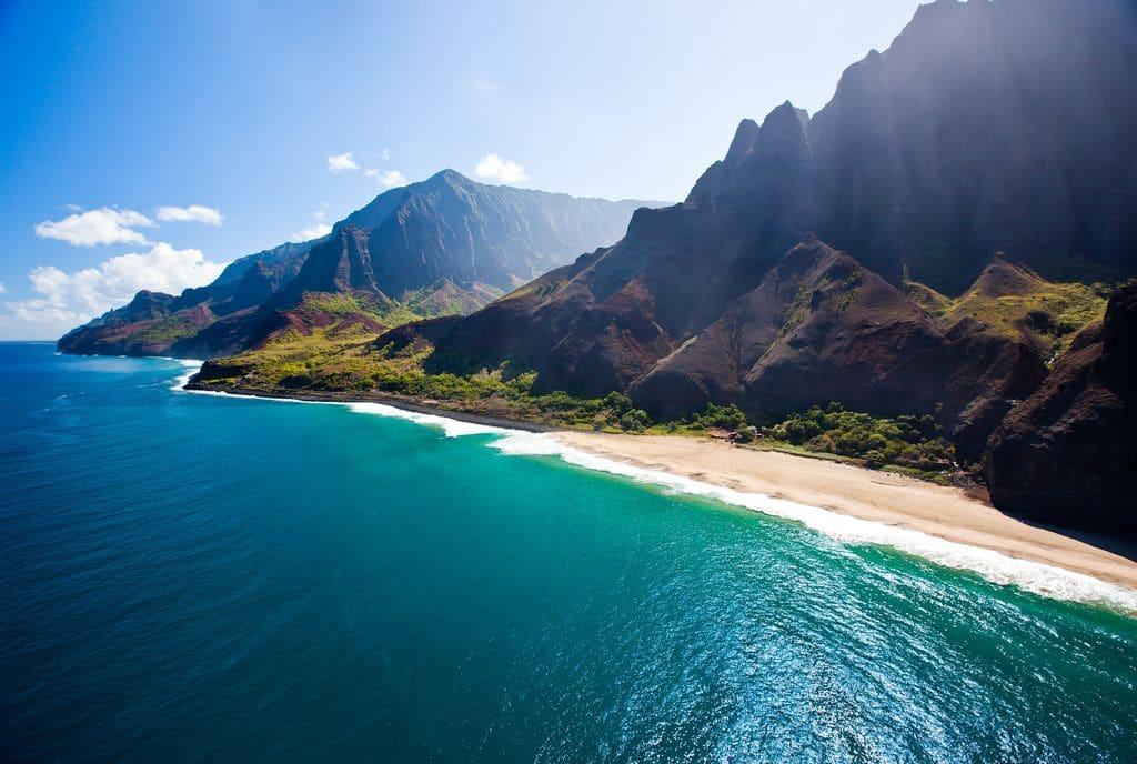 O Que Fazer Em Kauai no Havaí: Long view of Napali coast
