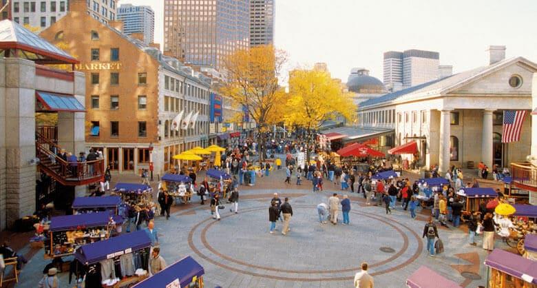 O Que Fazer em Boston em Nova York: Quincy Market, no Faneuil Hall Marketplace