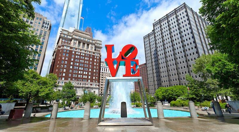 O Que Fazer na Filadélfia em Nova York: Love Park