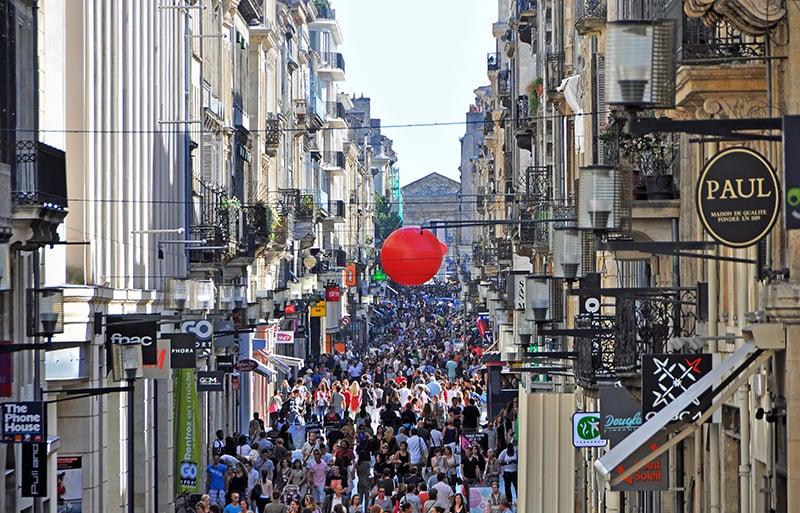 O que fazer em Bordeaux: Rua Sainte Catherine
