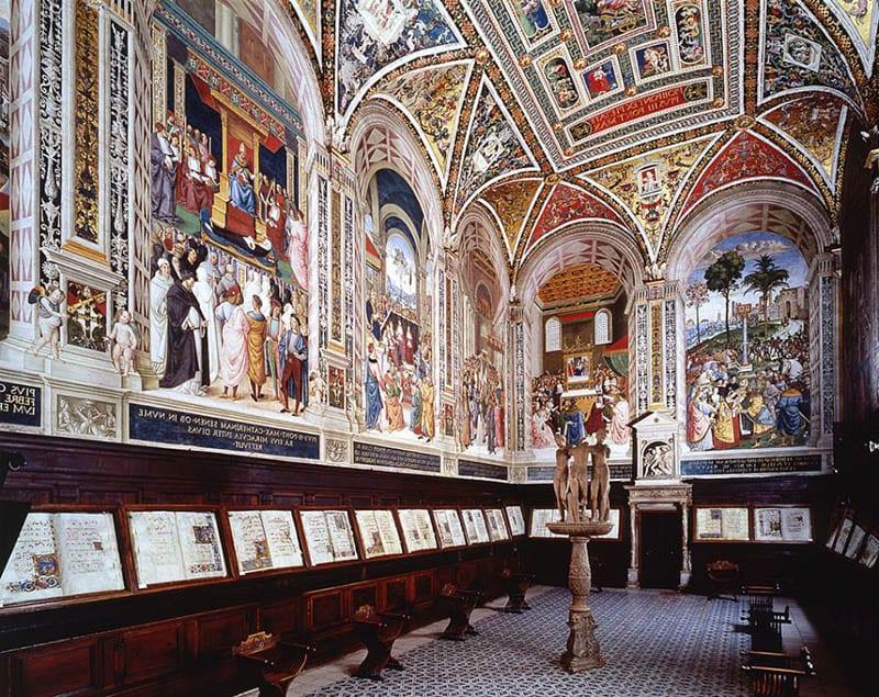 O que fazer em Siena: Biblioteca Piccolomini