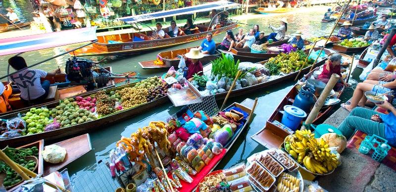 O Que Fazer em Bangkok: Mercado Flutuante