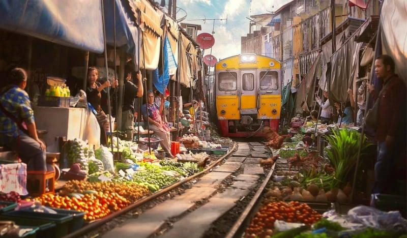 O Que Fazer em Bangkok: Mercado do Trem