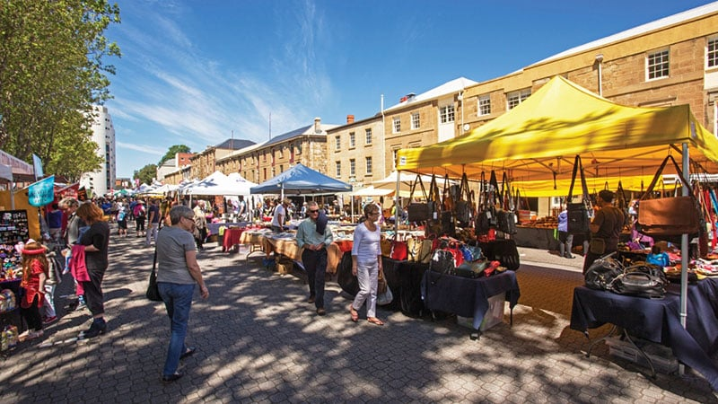O que fazer na Tasmânia: Mercado de Salamanca